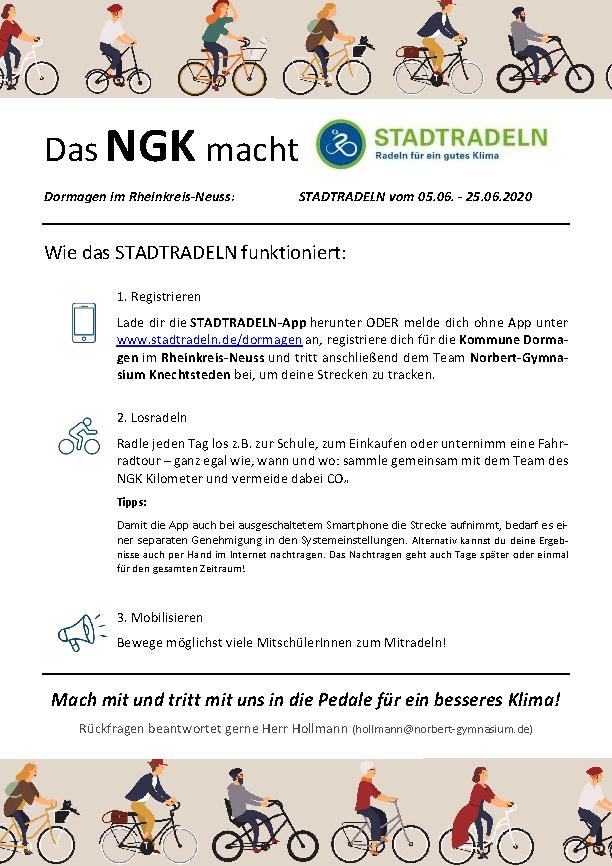 Das NGK macht Stadtradeln (PDF öffnen)