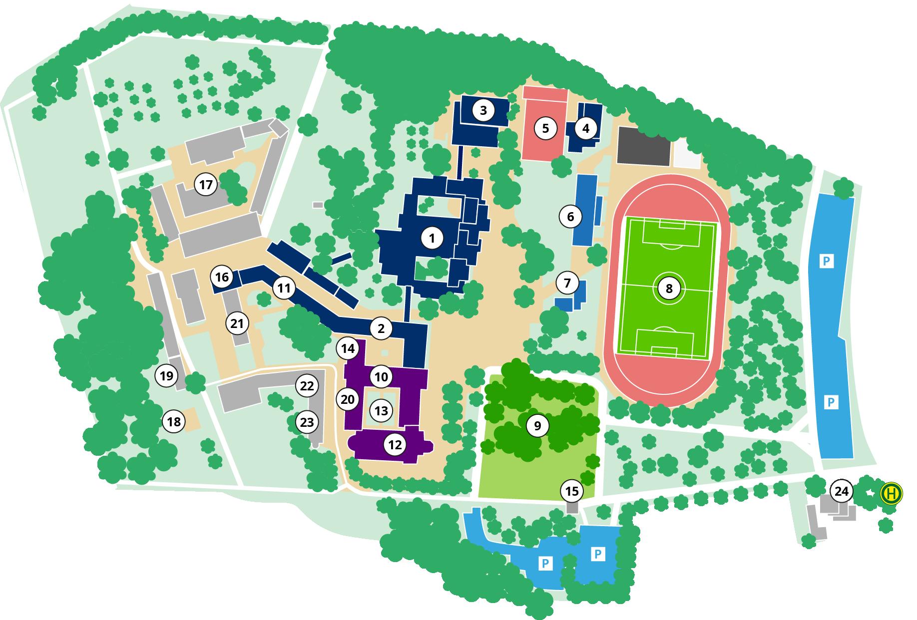Lageplan Knechtsteden